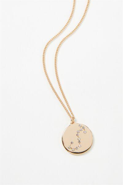 Horoscope Necklace, SCORPIO/GOLD