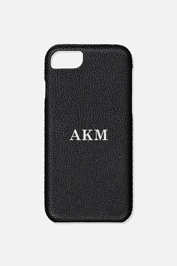 Customised Phone Cover- iPhone 6/7/8, BLACK PEBBLE