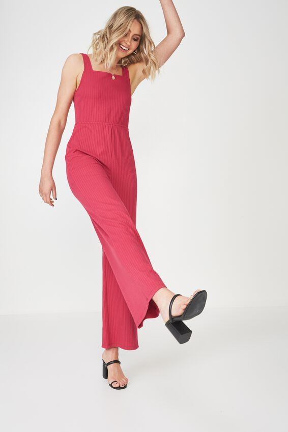 Square Neck Rib Jumpsuit at Cotton On in Brisbane, QLD | Tuggl