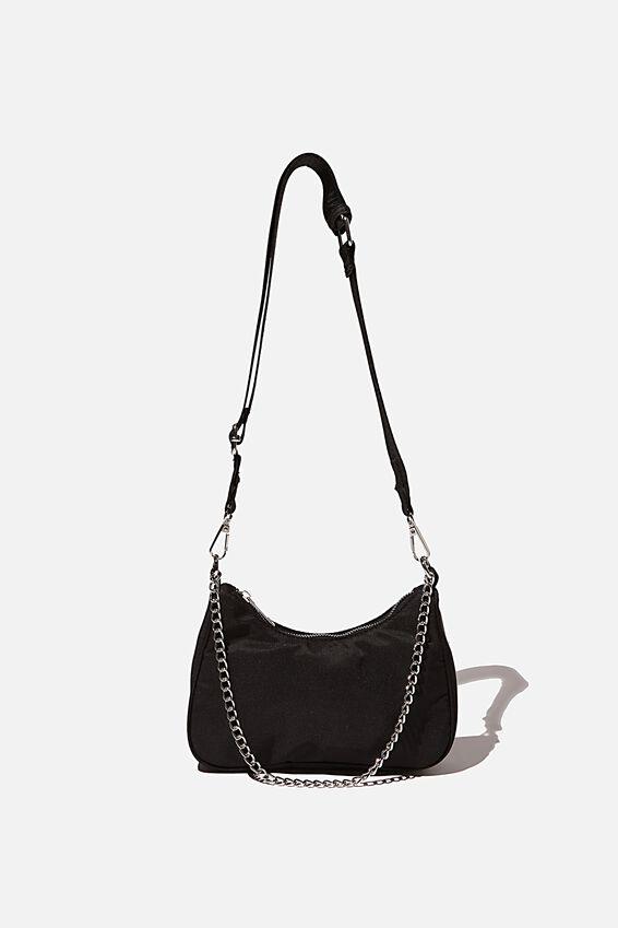 Lena Shoulder Bag, BLACK