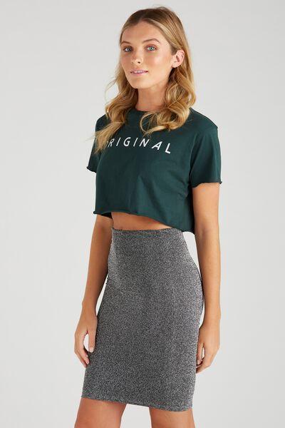Party Sparkle Midi Skirt, BLACK/SPARKLE