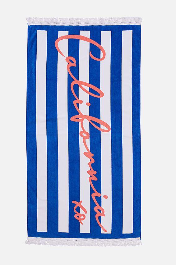 Beach Towels, CALIFORNIA XO