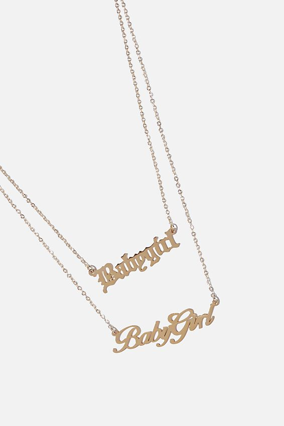 Baby Girl Necklace, BABY GIRL