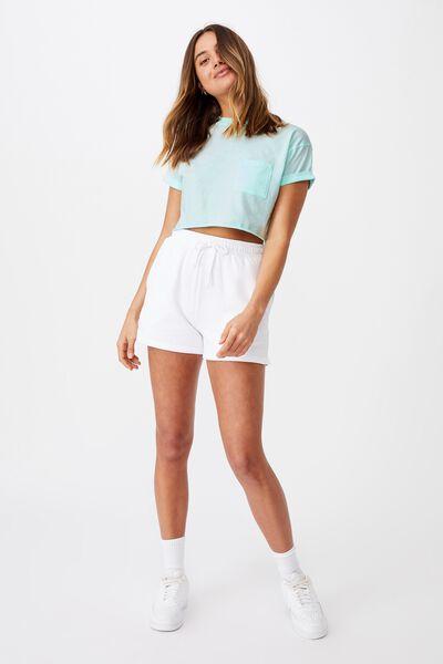 Ciara Crop T-Shirt, BLEACH AQUA