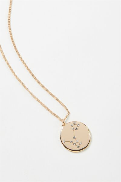 Horoscope Necklace, PISCES/GOLD
