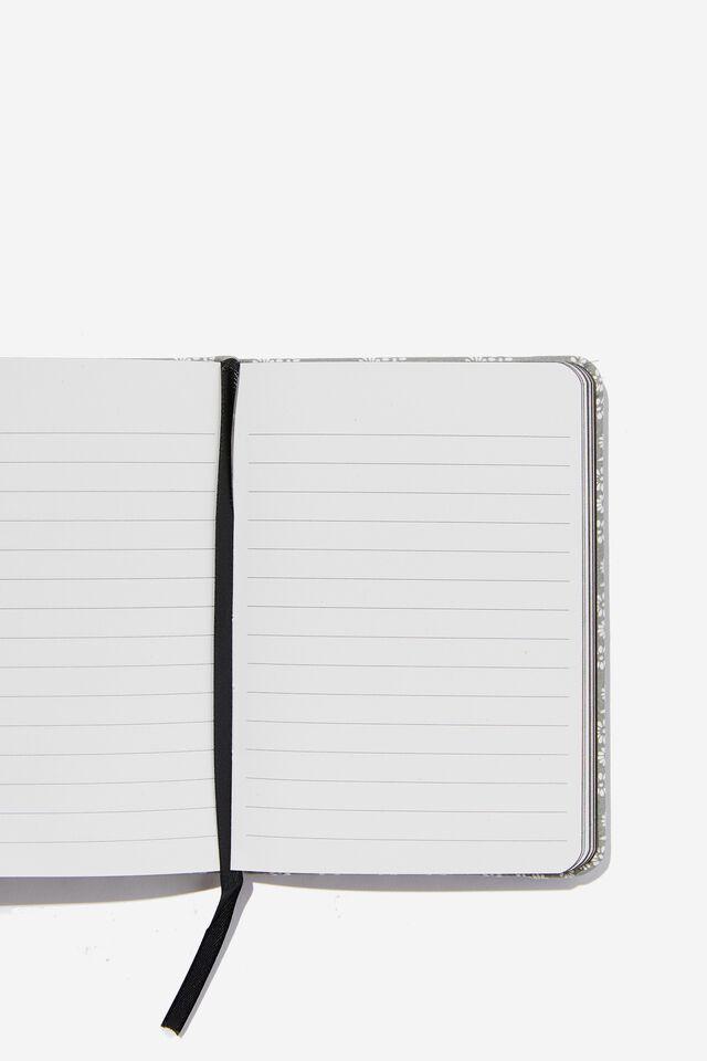 "A6 Buffalo Journal (5.8"" x 4.1""), STAMPED DAISY GREYSCALE"