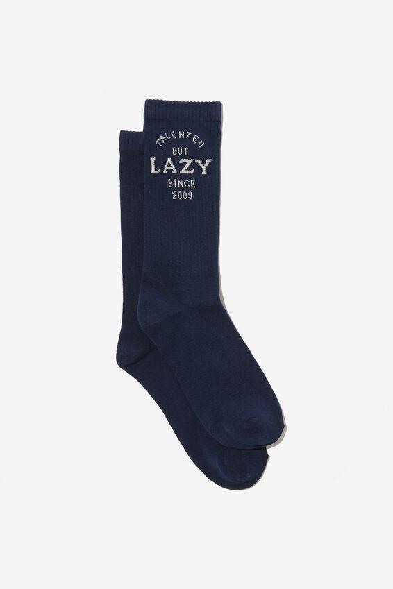Socks, TALENTED BUT LAZY BLUE TUBE