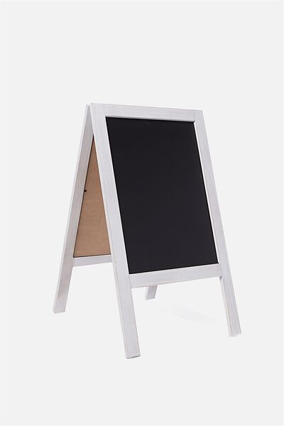 A3 Easel Chalkboard, WHITE WASH
