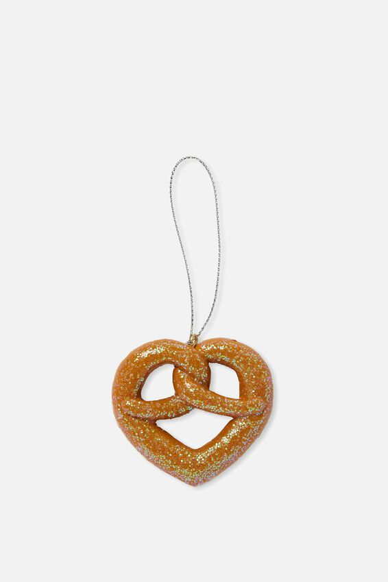 Christmas Ornament, GLITTER PRETZEL