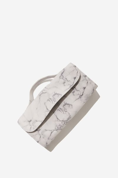 Cancun Cosmetic Case, WHITE MARBLE