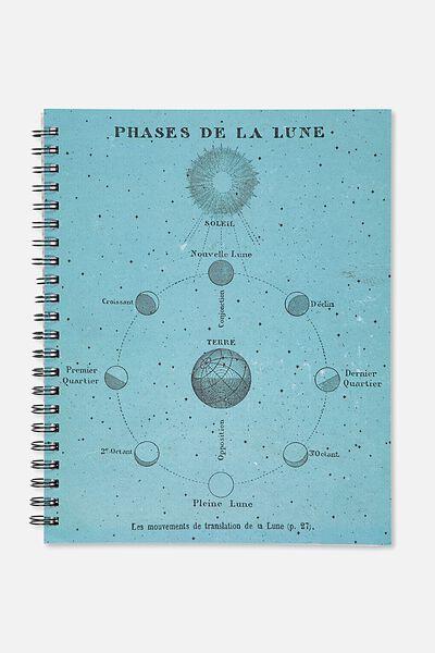 A4 Campus Notebook - 240 Pages, PHASES DE LA LUNE