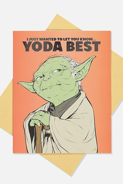 Love Card, LCN LU STR YODA BEST RED