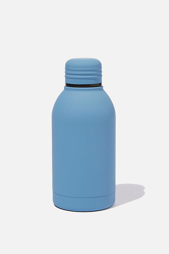 Mini Metal Drink Bottle, PL RUBBER PETROL BLUE