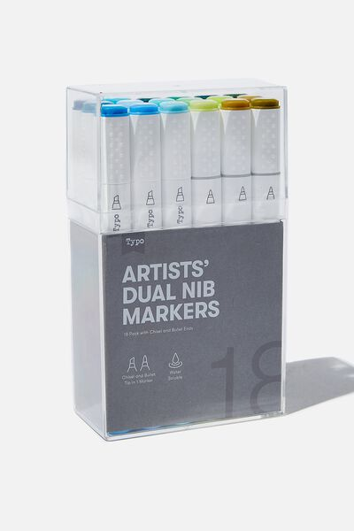 Artists Dual Nib Marker 18Pk, AMAZON RAINFOREST