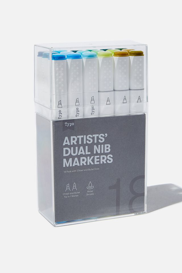 Artists Dual Nib Marker 18Pk, AMAZON RAINFOREST