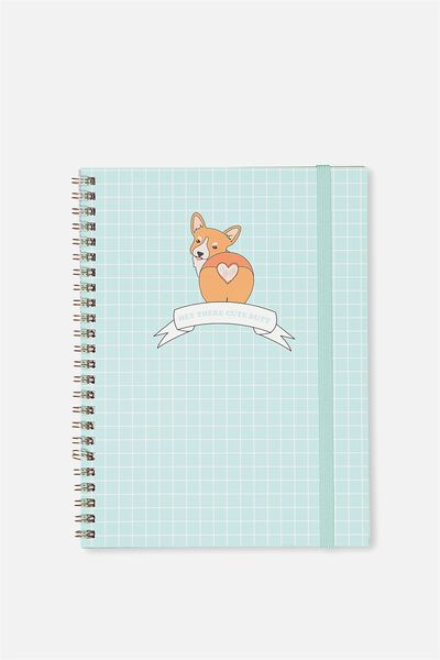 A5 Spinout Notebook - 120 Pages, CORGI CUTE BUTT!