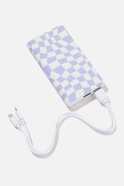 Ultimate Charge It Charger, WARP CHECKERBOARD LILAC