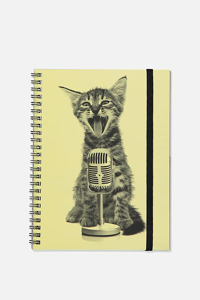 A5 Spinout Notebook Recycled, TBAR KITTEN SINGER