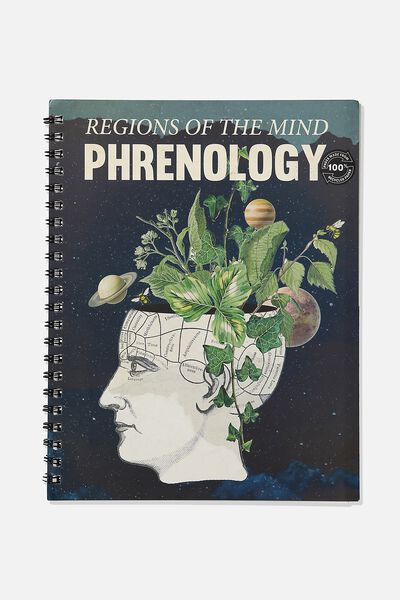 A4 Campus Notebook Recycled, REGIONS OF THE MIND