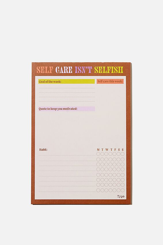 A5 Wellness Tracker, SELF CARE ISN T SELFISH