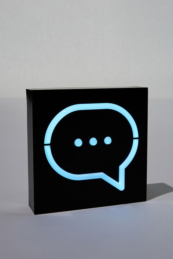 Metal Block Light, MESSAGE BUBBLE