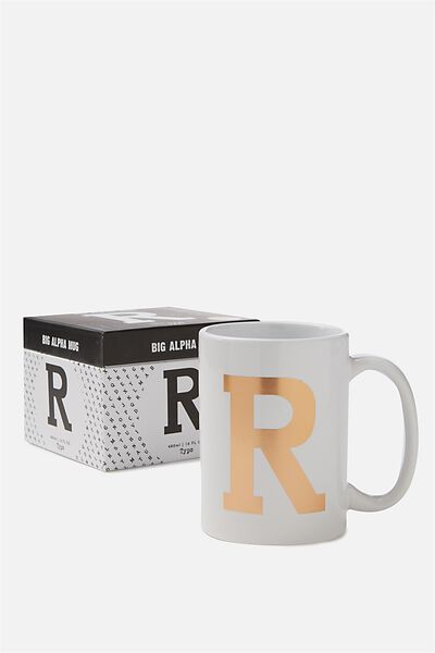 Big Alphabet Mug, ROSE GOLD R