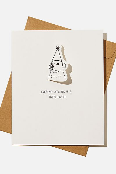 Premium Love Card, BOBBLE I LIKE YOU MORE THAN PARTIES DOG!