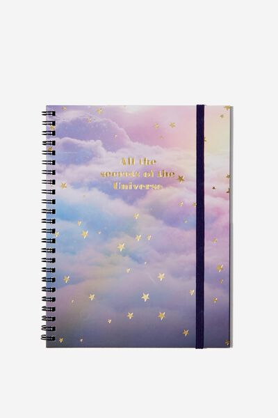 A5 Spinout Notebook - 120 Pages, SECRETS OF THE UNIVERSE