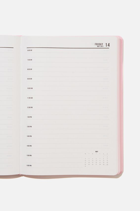 2021 A4 Daily Buffalo Diary, PLASTIC PINK