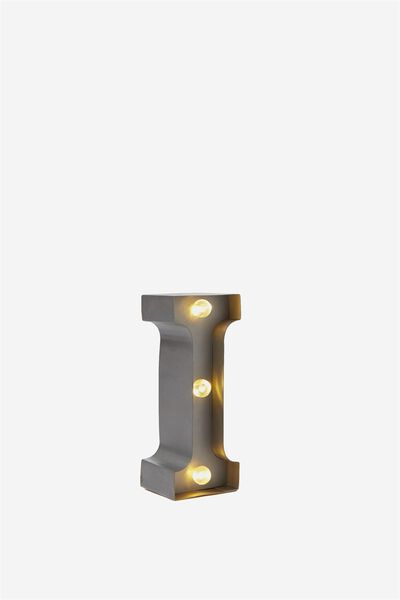 Mini Marquee Letter Lights 3.9inch, SILVER I
