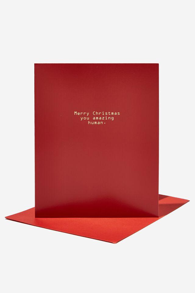 Christmas Card 2021, MERRY CHRISTMAS AMAZING HUMAN RED