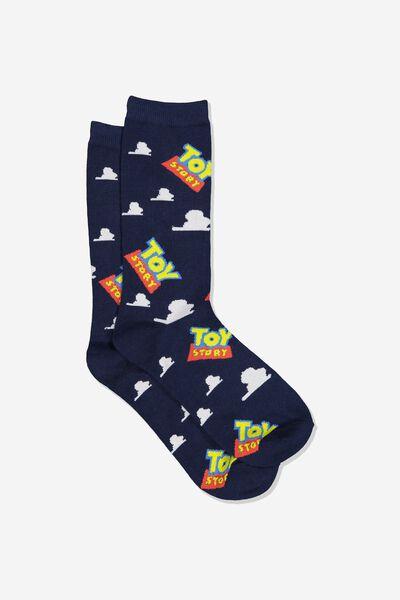 Mens Novelty Socks, LCN DIS TOY STORY LOGO