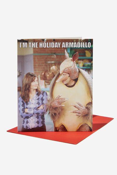 Christmas Card 2021, LCN WB FRIENDS HOLIDAY ARMADILLO