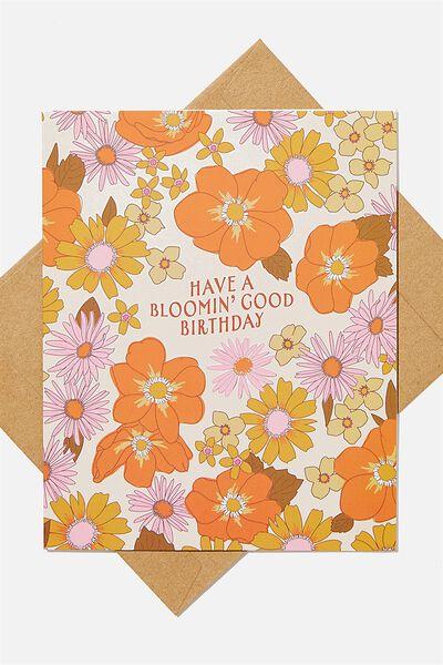 Nice Birthday Card, BLOOMIN GOOD BIRTHDAY
