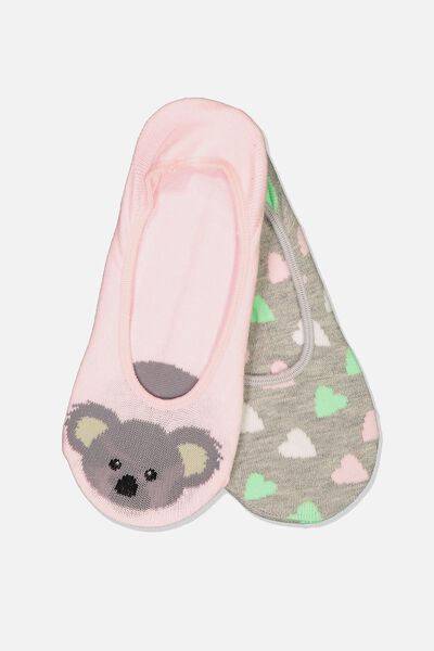 Novelty Hidden Sock, KOALA POLKA