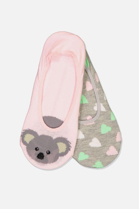Novelty Hidden Sock, KOALA POLKA