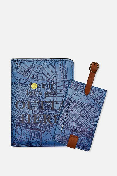 Passport Holder & Luggage Tag Set, NEW YORK!
