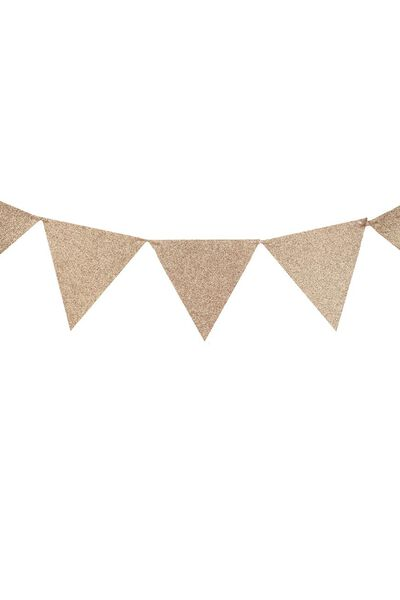 Diy Fabric Bunting, ROSE GOLD