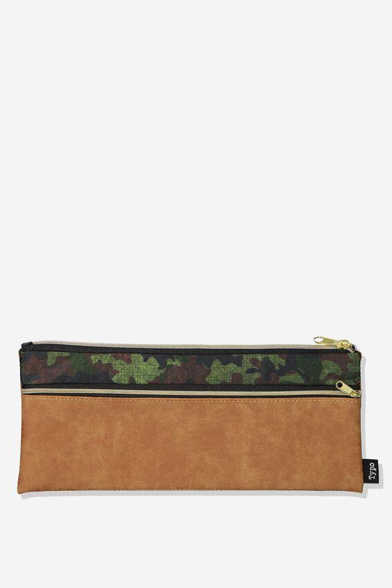 Patti Pencil Case, TAN CAMO