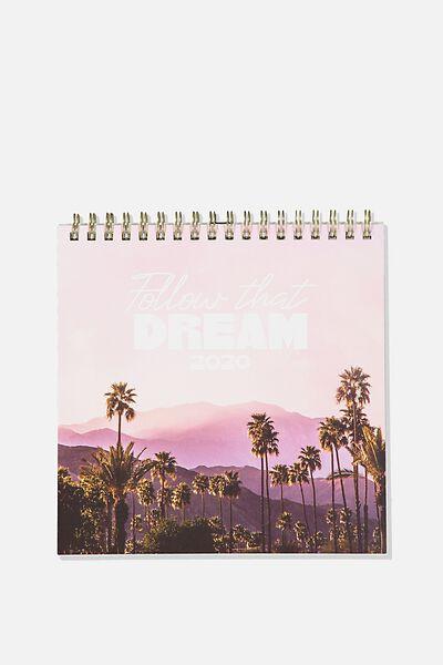 2020 Get A Date Flip Desk Calendar, PASTEL TRAVEL