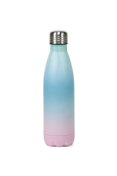 Metal Drink Bottle, BLUE PINK OMBRE