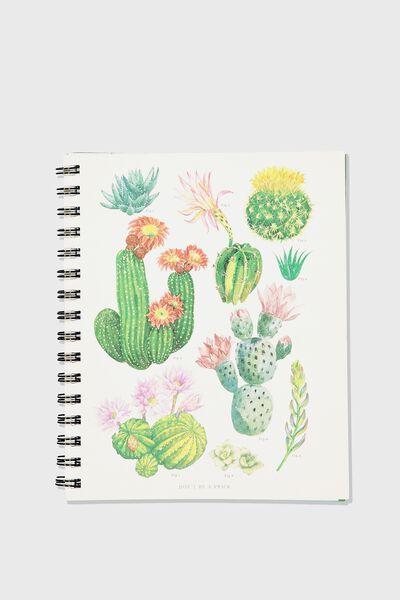 Medium Campus Notebook - 240 Pages, CACTUS
