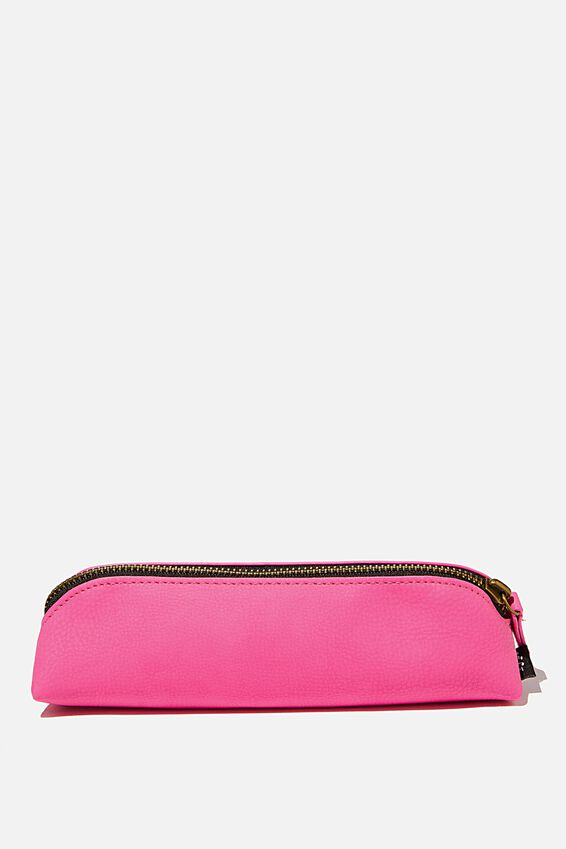 Buffalo Barrel Pencil Case, SHOCKING PINK