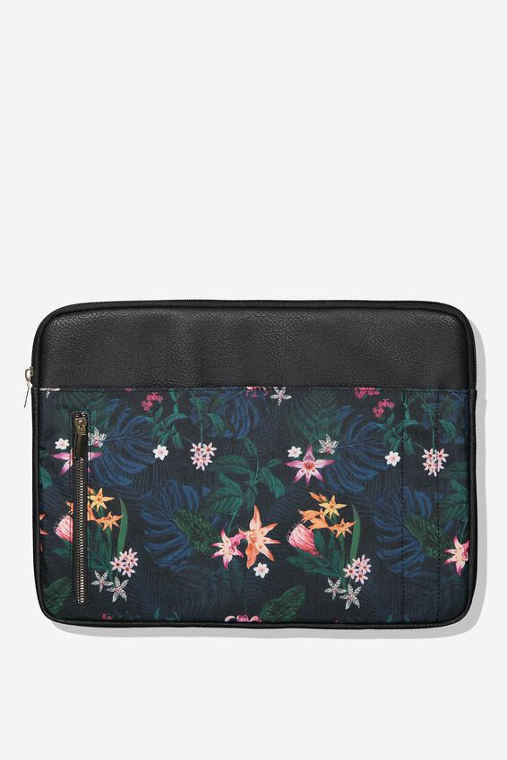 Take Charge 15 Inch Laptop Cover, JUNGLE FLORAL