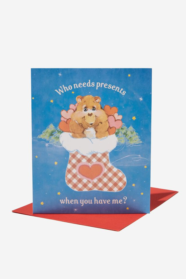 Christmas Card 2021, LCN CLC CARE BEARS PRESENT STOCKING