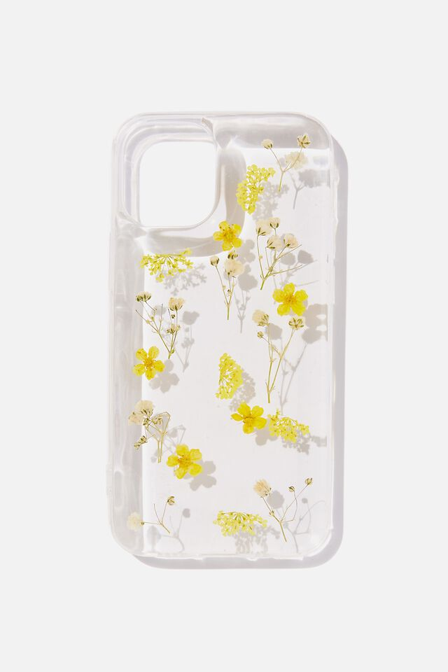 Protective Phone Case Iphone 12 Mini, TRAPPED MICRO FLOWERS