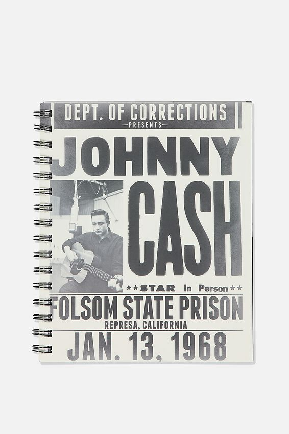A5 Campus Notebook Recycled, LCN MT JOHNNY CASH