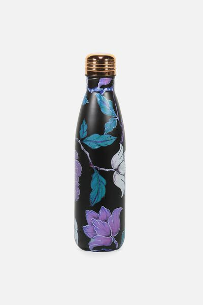 Metal Drink Bottle, LUSH FLORAL