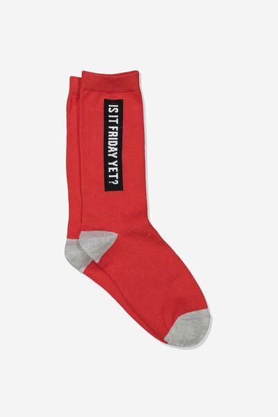 Mens Novelty Socks, FRIDAY YET