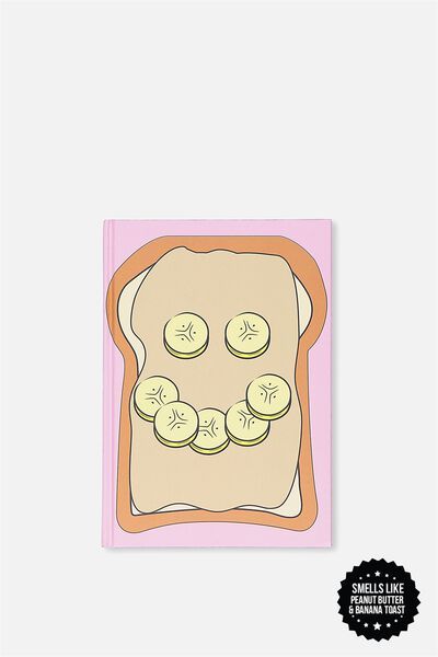 A5 Scented Notebook, PEANUT BUTTER BANANA TOAST